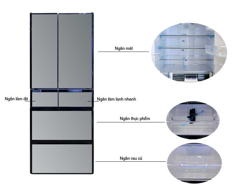 Tủ Lạnh Hitachi RG520GVX Dung Tích 536L