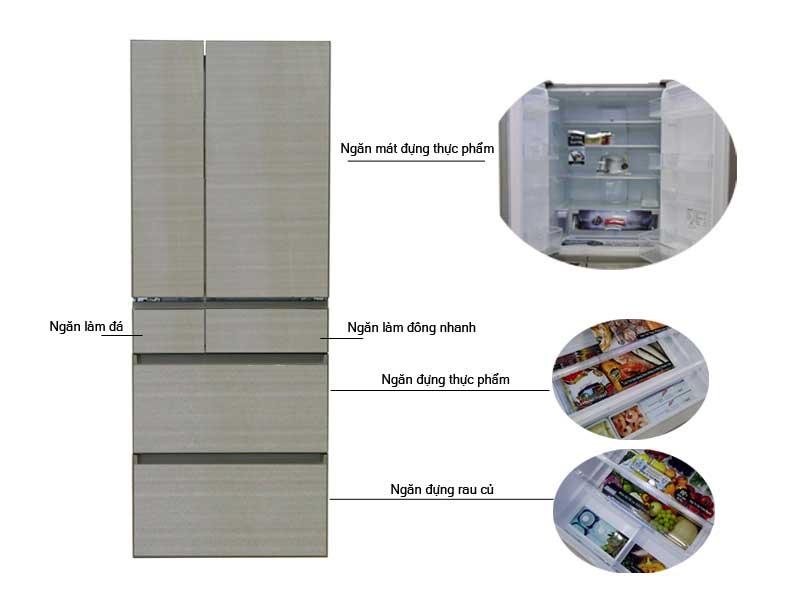 Tủ Lạnh Panasonic NR-F603GT-N2 589 Lít inverter Vàng Champagne