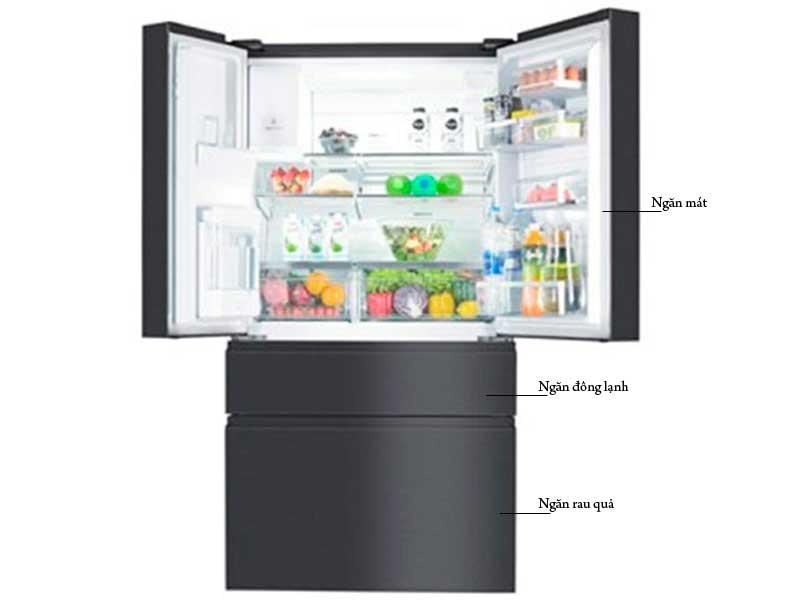 Tủ Lạnh Electrolux EHE6879AB 4 Cửa 617 Lít