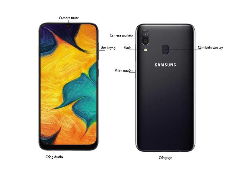 Điện Thoại Samsung Galaxy A30 Đen 64 GB