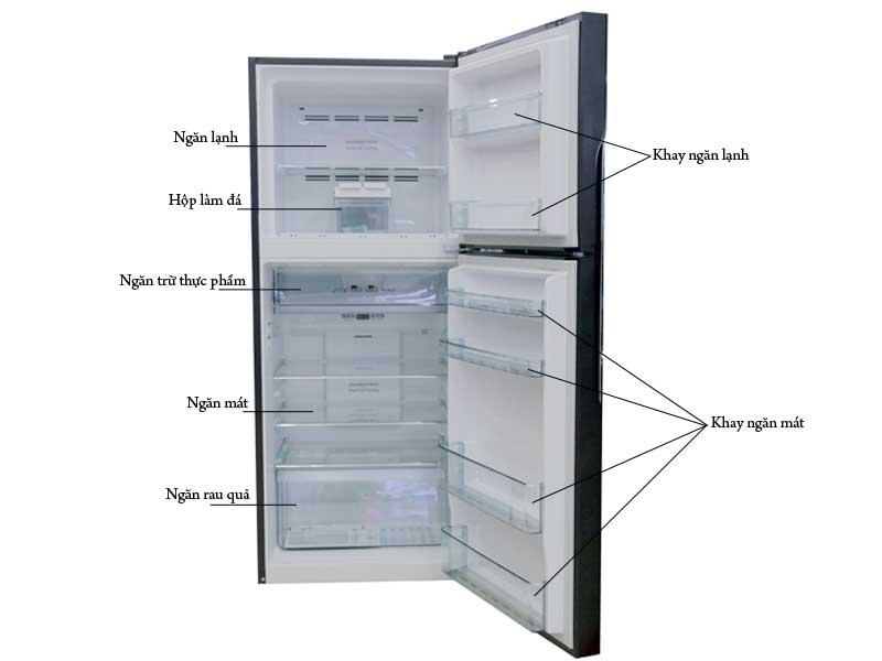 Tủ Lạnh Hitachi FG450PGV8GBW 339 Lít Inverter Nâu