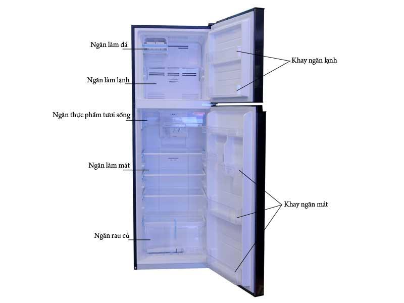 Tủ Lạnh Toshiba Inverter 253 lít GR-B31VU SK - Màu xám đậm