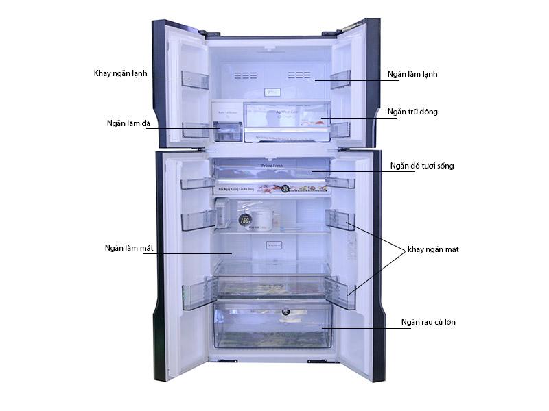 Tủ Lạnh Panasonic NR-DZ600GXVN 550 lít Inverter 4 Cửa
