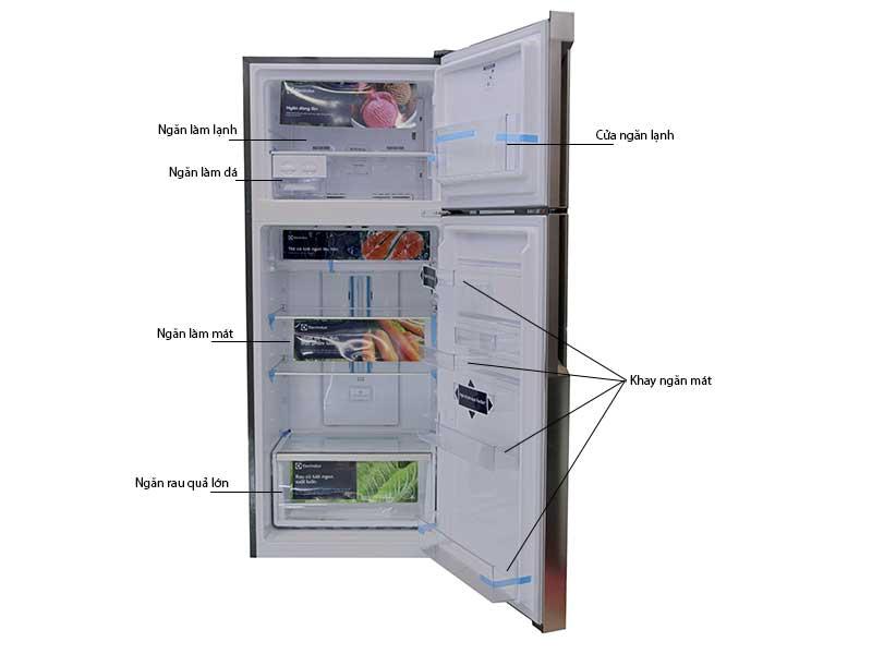 Tủ Lạnh Electrolux ETB4600B-H 460 Lít Inverter