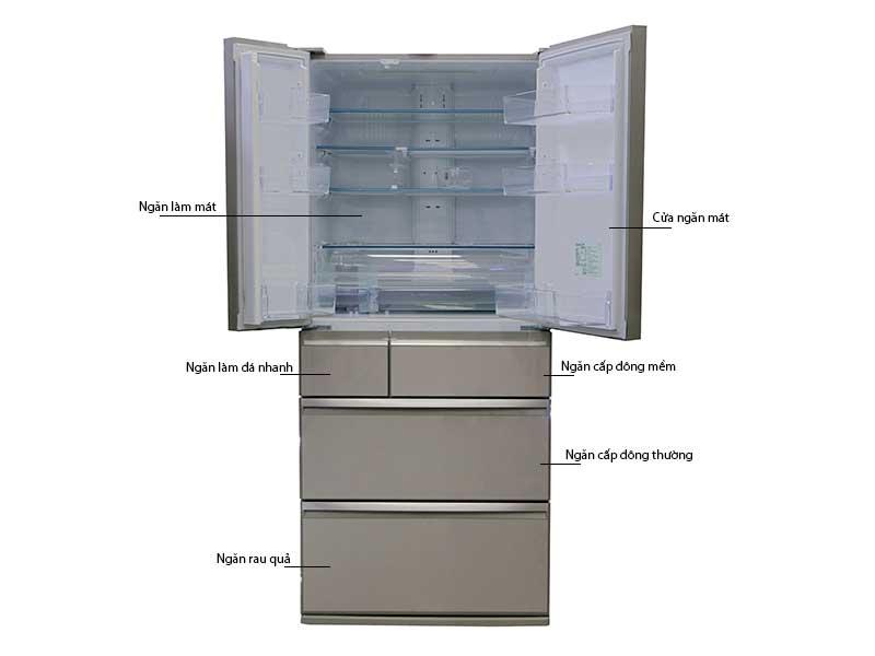 Tủ Lạnh Mitsubishi MR-WX70C-F-V 694 lít