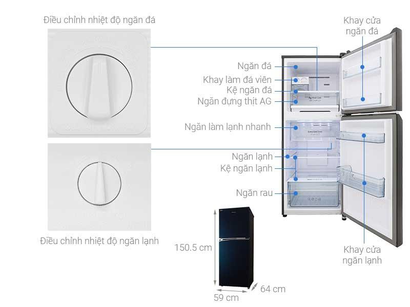 Tủ Lạnh Panasonic NR-BL300GAVN 268 Lít