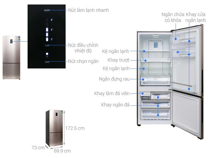 Tủ Lạnh Inverter Electrolux EBE4500BG - 453 lít