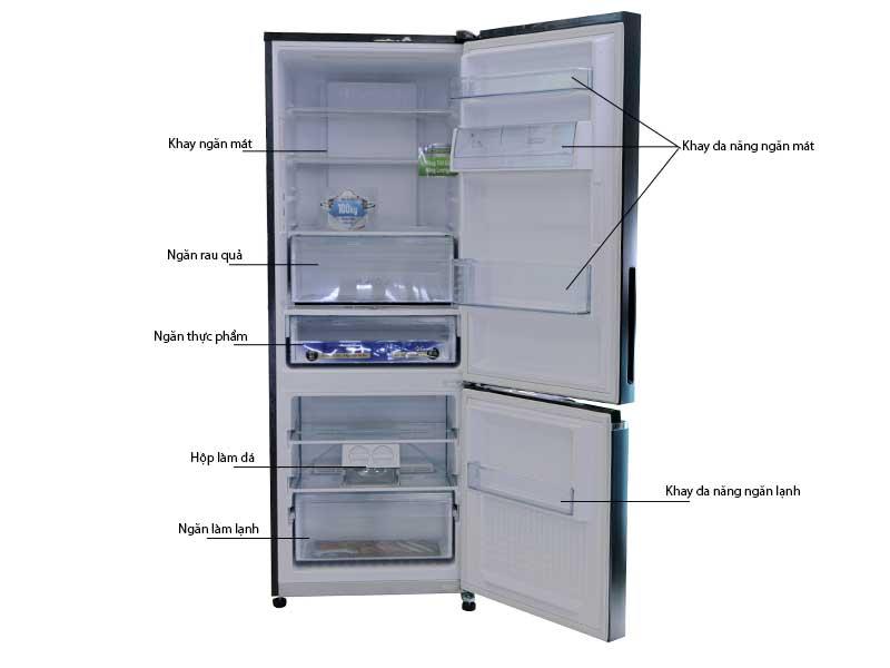 Tủ Lạnh Panasonic NR-BV280GAVN  255 Lít Inverter Gương Xanh