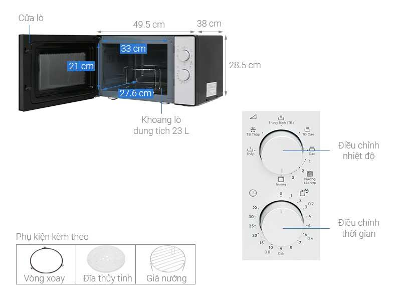 Lò Vi Sóng Electrolux EMG23K38GB 23L Có Nướng