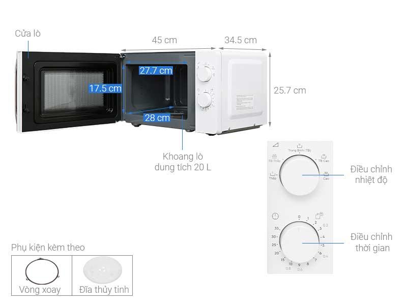 Lò Vi Sóng Electrolux EMM20K18GW