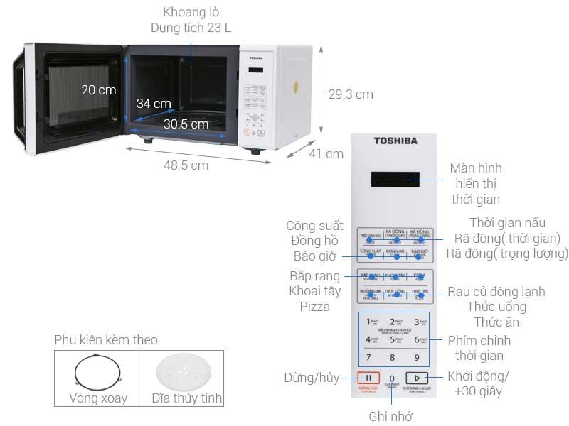 Lò Vi Sóng Toshiba ER-SS23(W1)VN 23L