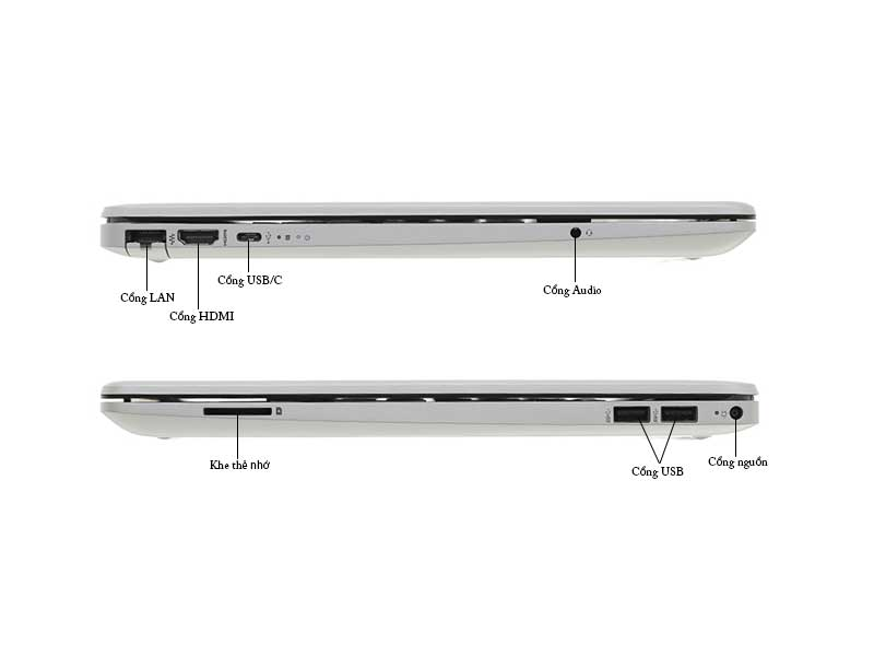Laptop HP 15s-du0116TU 8TW28PA Core i3-7020U Silver