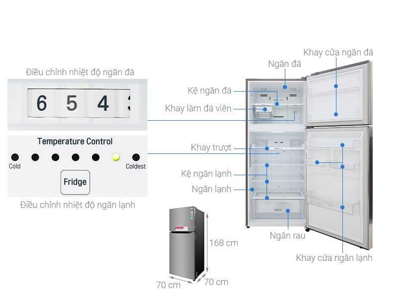 Tủ Lạnh LG GNM422PS - 393L/427L Inverter