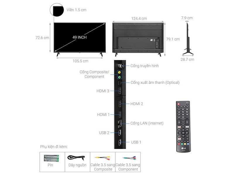 Tivi Led LG 65UN7000PTA 65 inch 4K-Ultra HD