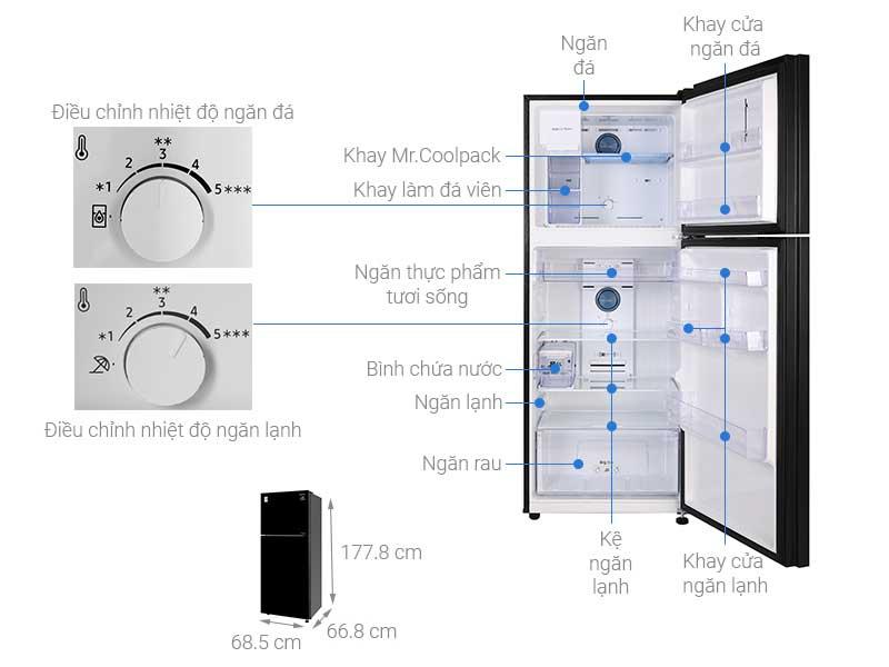 Tủ Lạnh Samsung RT38K50822C/SV 382L Inverter Đen