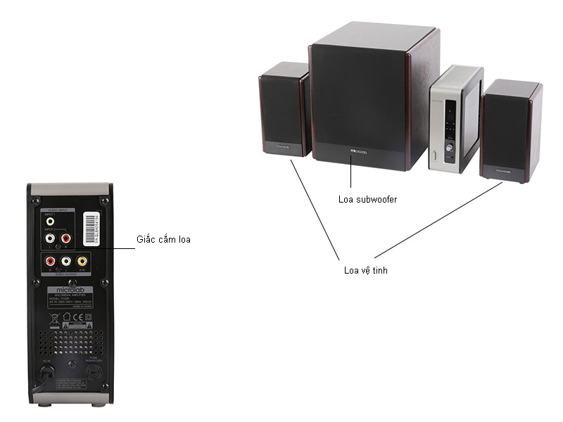 Loa Microlab FC530 2.1