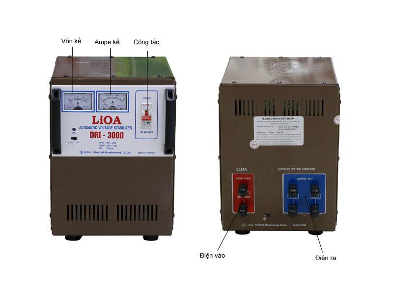 Ổn áp LIOA DRI3000 1 pha tự động có bảo vệ