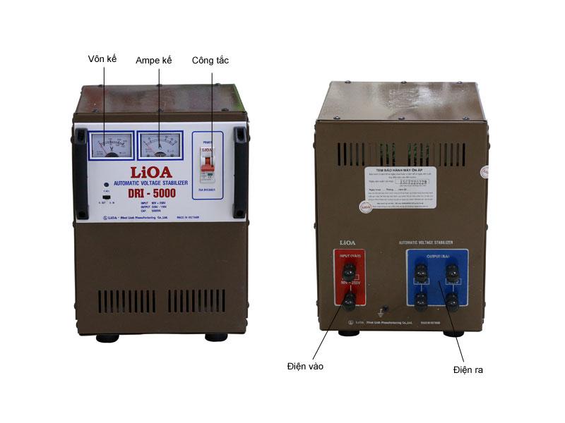 Ổn áp LIOA DRI5000 1 pha tự động có bảo vệ