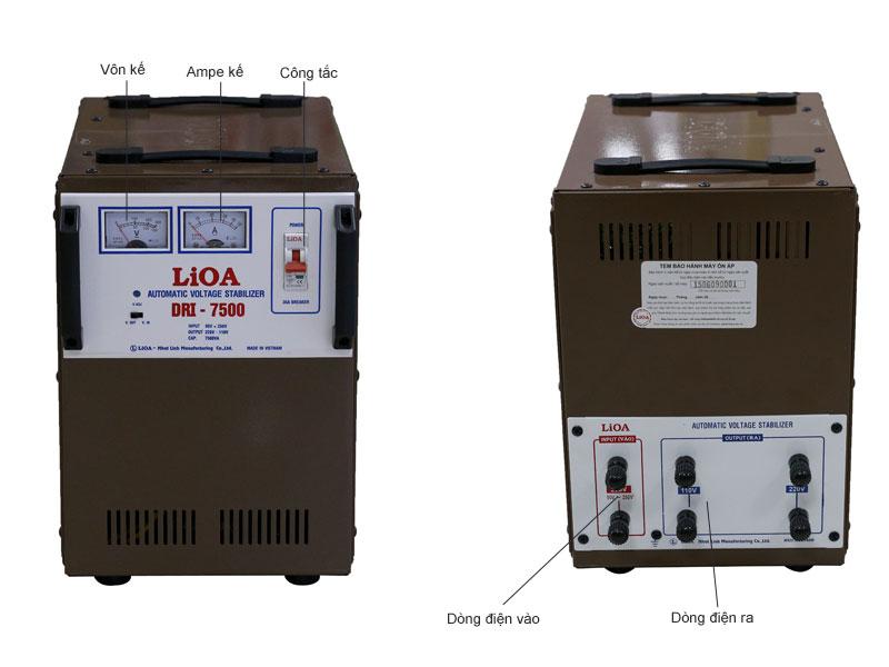Ổn áp LIOA DRI7500 1 pha tự động có bảo vệ