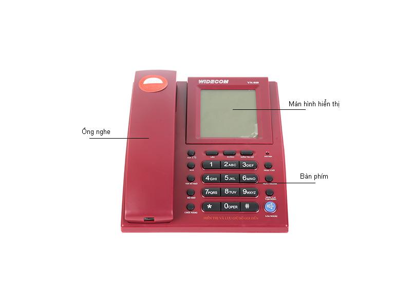 Máy điện thoại để bàn Widecom VN959 Đen - VN959B