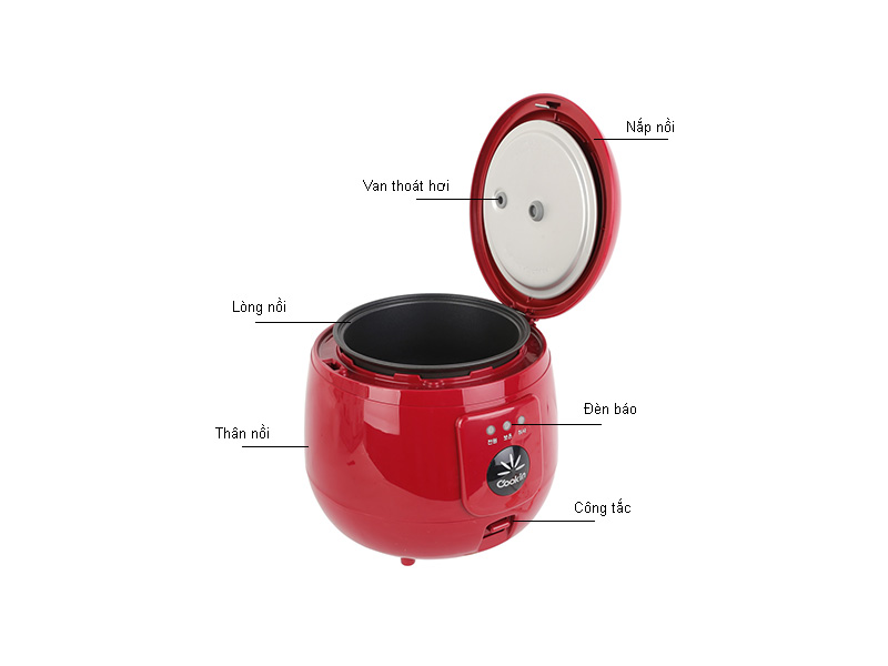 Nồi cơm điện Kitchen RMNA05 0,54 L, 375W